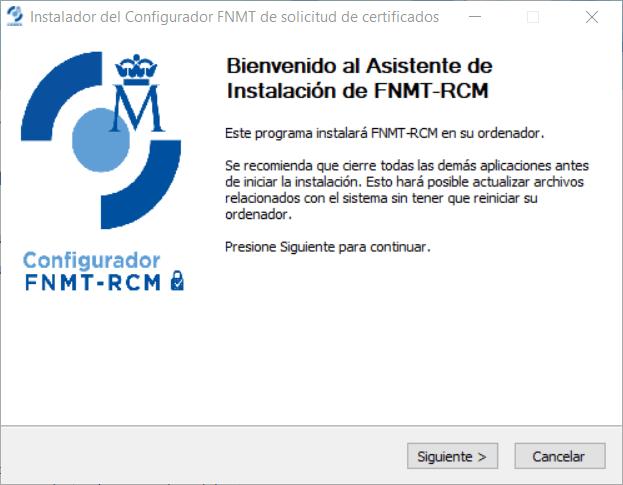 Configurador de la FNMT