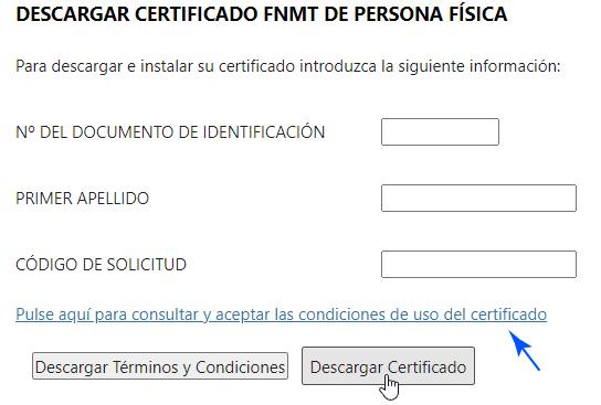 Descargar el Certificado de ciudadano