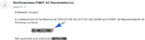 Notificación por email de la persona jurídica