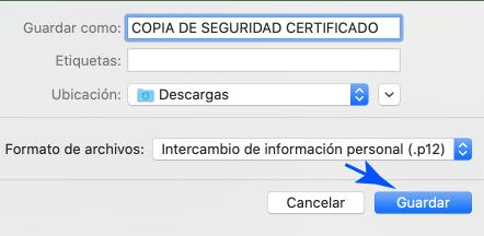 Formato del respaldo en Mac