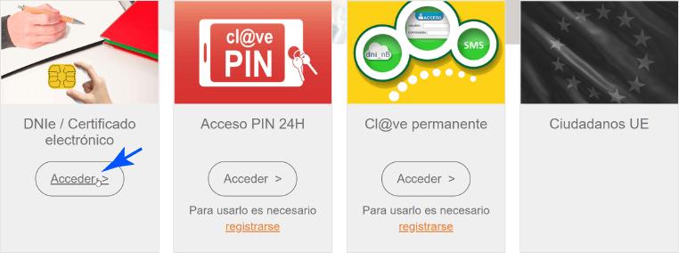 Acceso con Certificado Digital